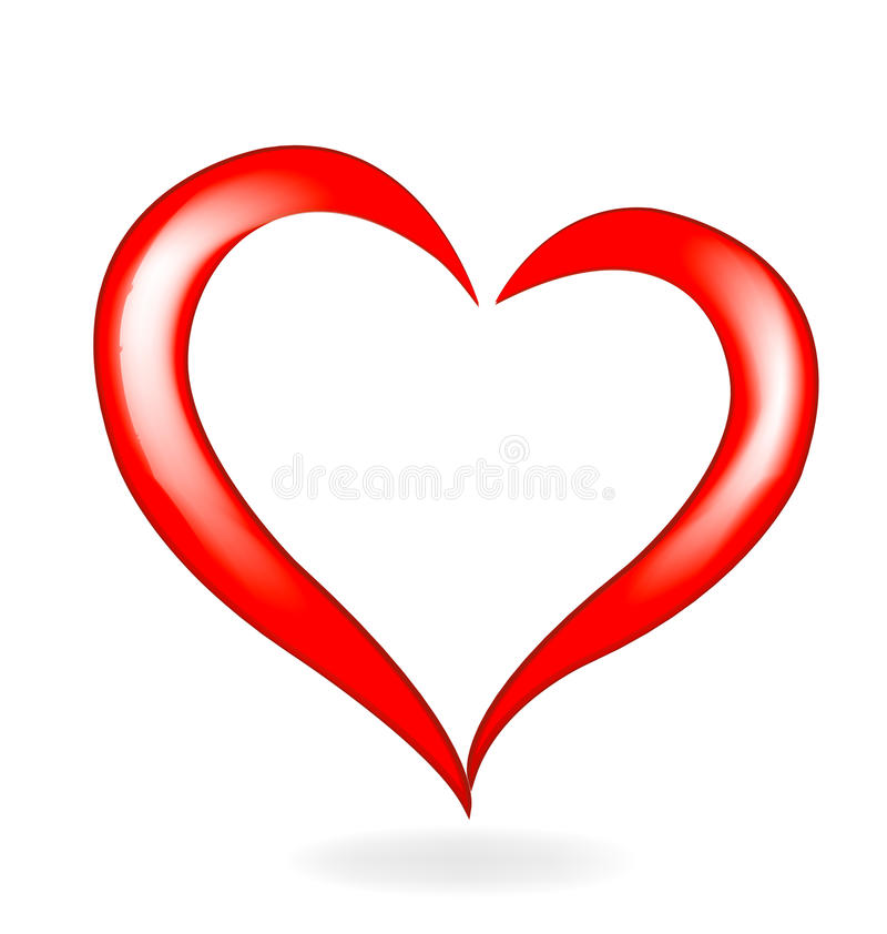 Amour de coeur de valentines illustration libre de droits