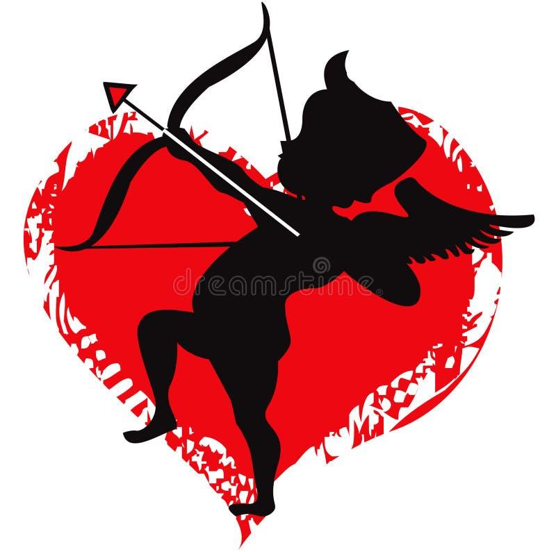 Amour de cupidon illustration de vecteur