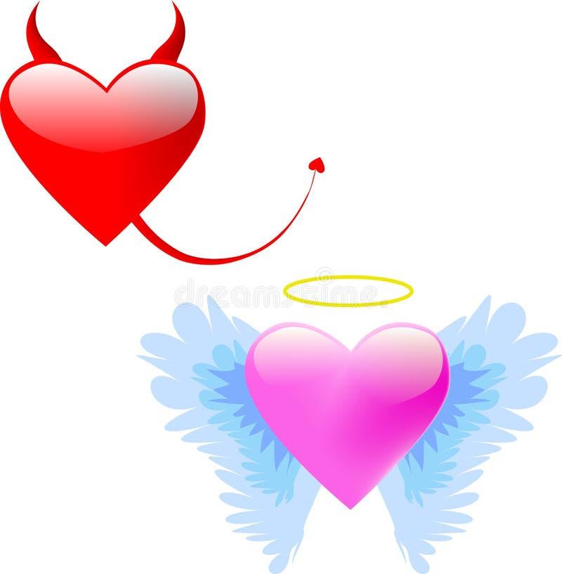 amour de diable d'ange illustration libre de droits