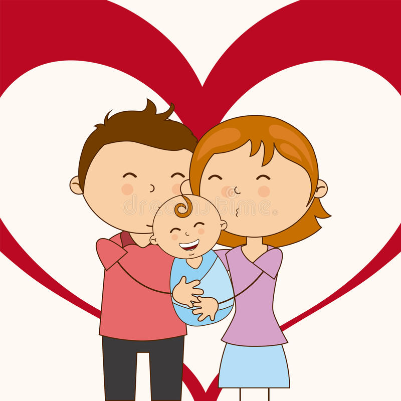 Amour de famille illustration stock