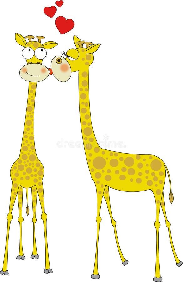 amour de giraffes illustration libre de droits