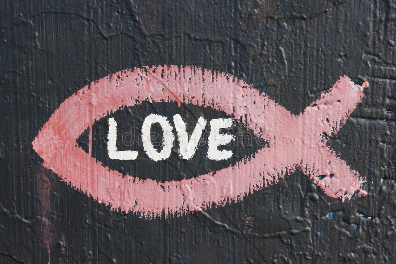 Amour de graffiti image stock