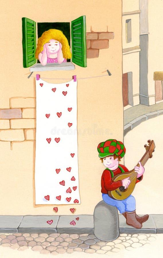 Amour de jour de Valentines illustration libre de droits