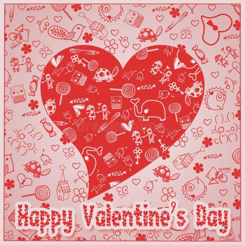 Amour de jour du ` s de Valentine - coeurs - collection de griffonnages image stock