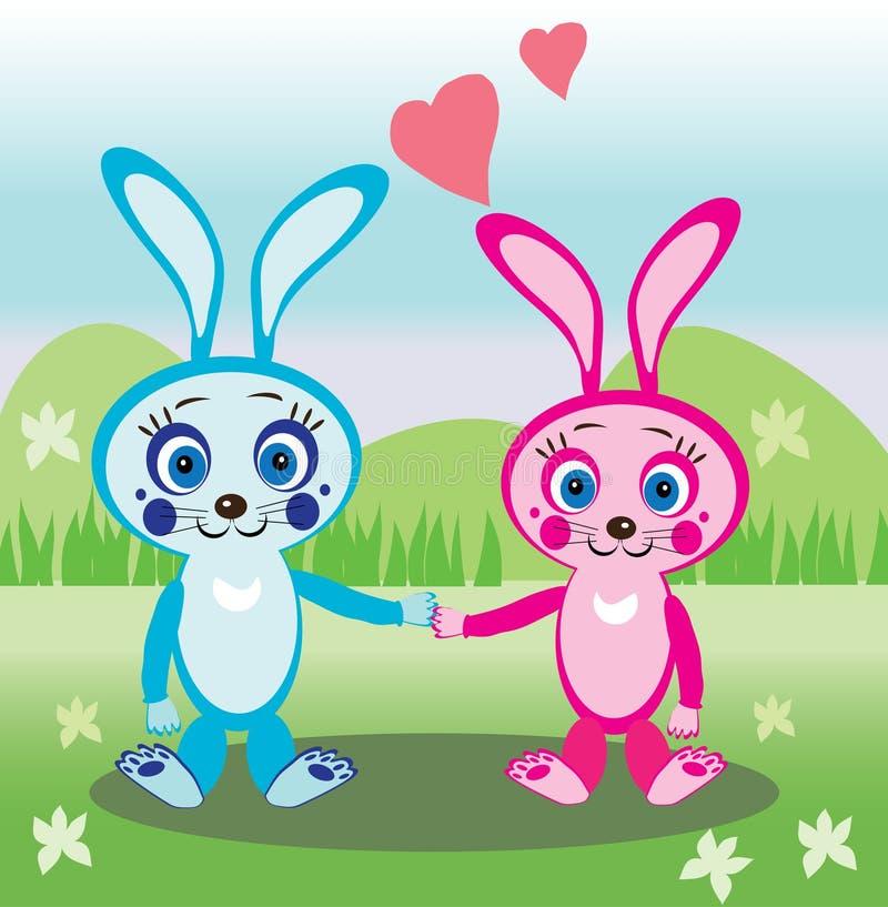 Amour de lapins illustration stock