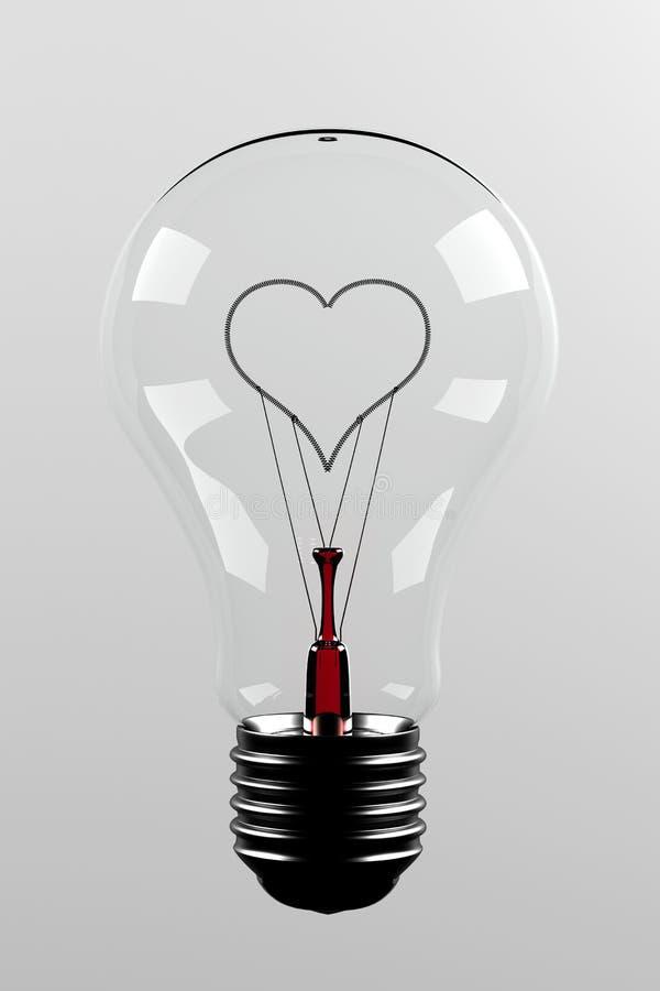 amour de lumière d'ampoule illustration stock