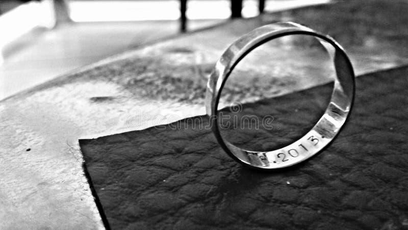 Amour de mariage d'anneau image libre de droits