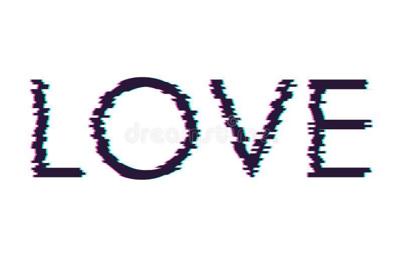 Amour de mot de problème de Digital Copie de T-shirt Illustration de vecteur illustration de vecteur