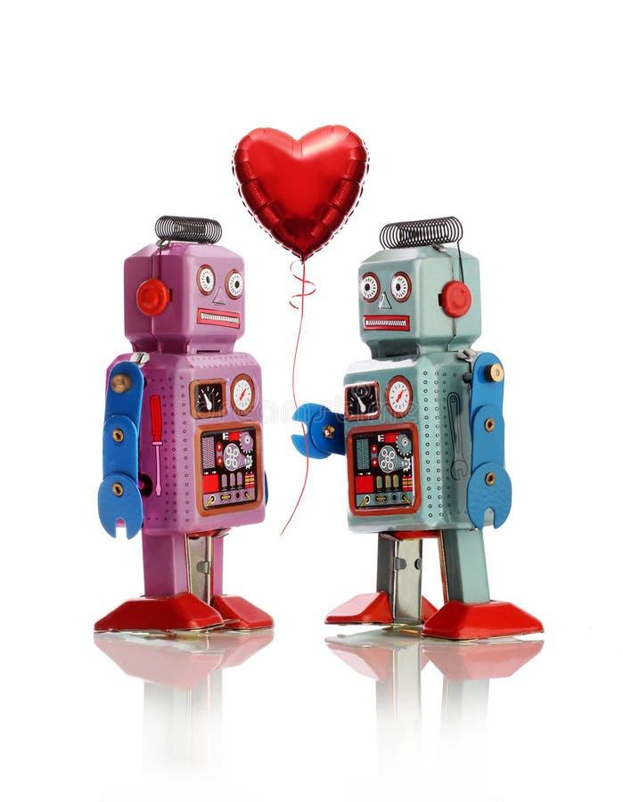 Amour de robot photo libre de droits