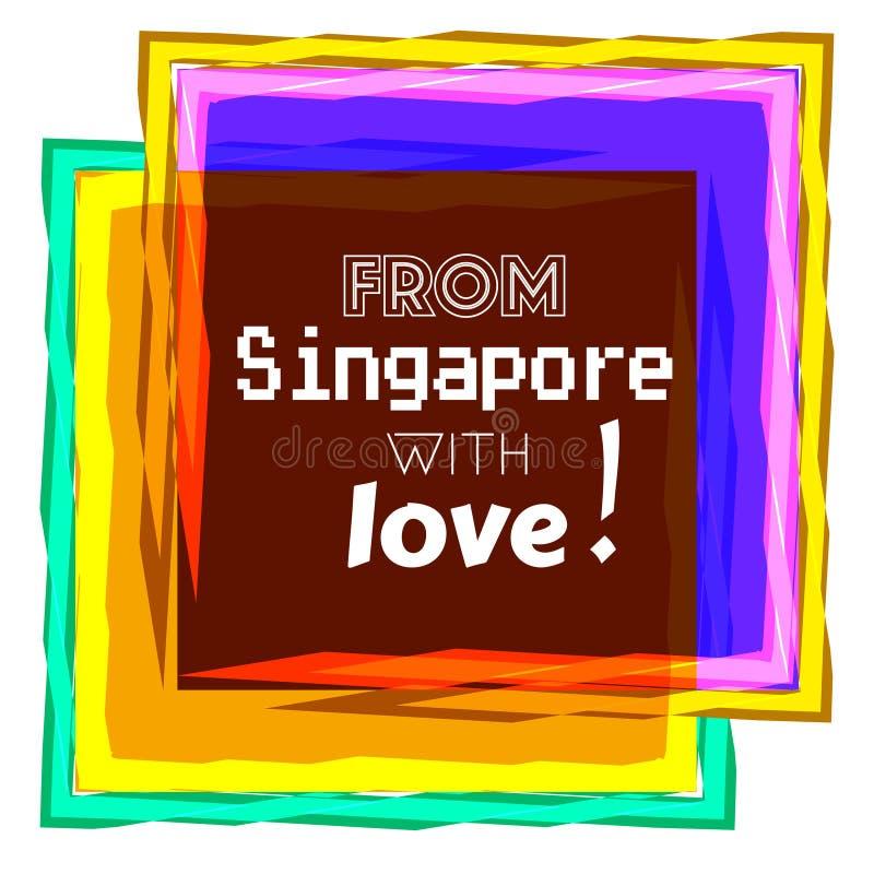 Amour de Singapour illustration de vecteur