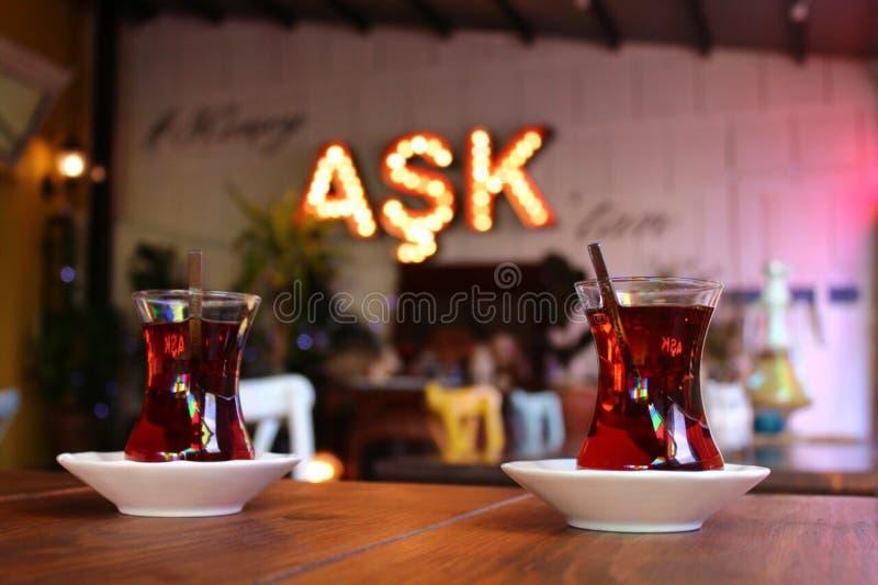 Amour de thé turc photographie stock