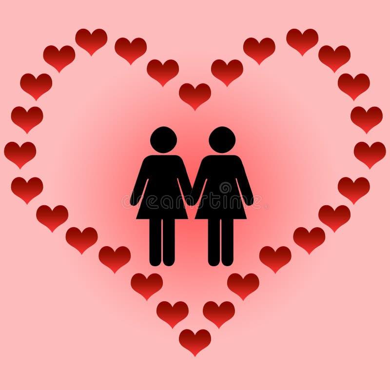 Amour des lesbiennes illustration libre de droits
