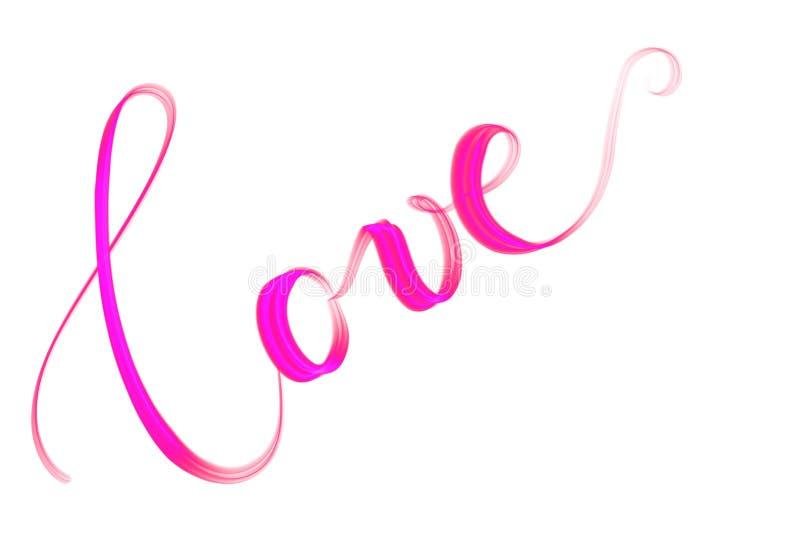 Amour des textes de Handlettered avec le coeur illustration libre de droits