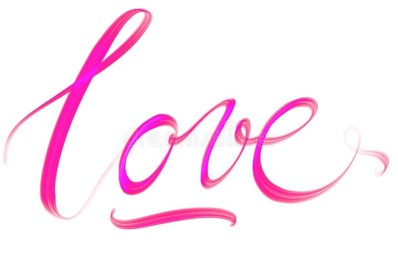 Amour des textes de Handlettered avec le coeur illustration stock