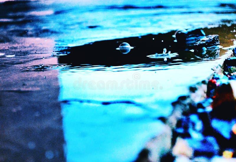 Amour du bleu 2017 d'hiver de l'eau il image libre de droits