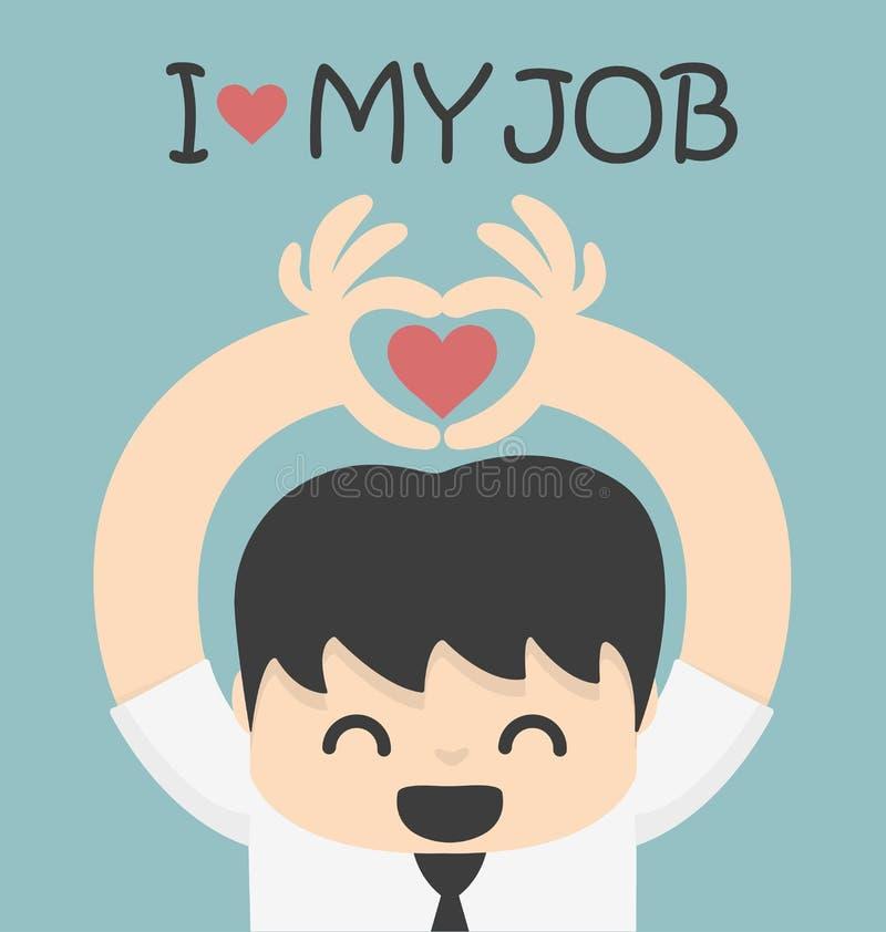amour du travail i mon illustration libre de droits