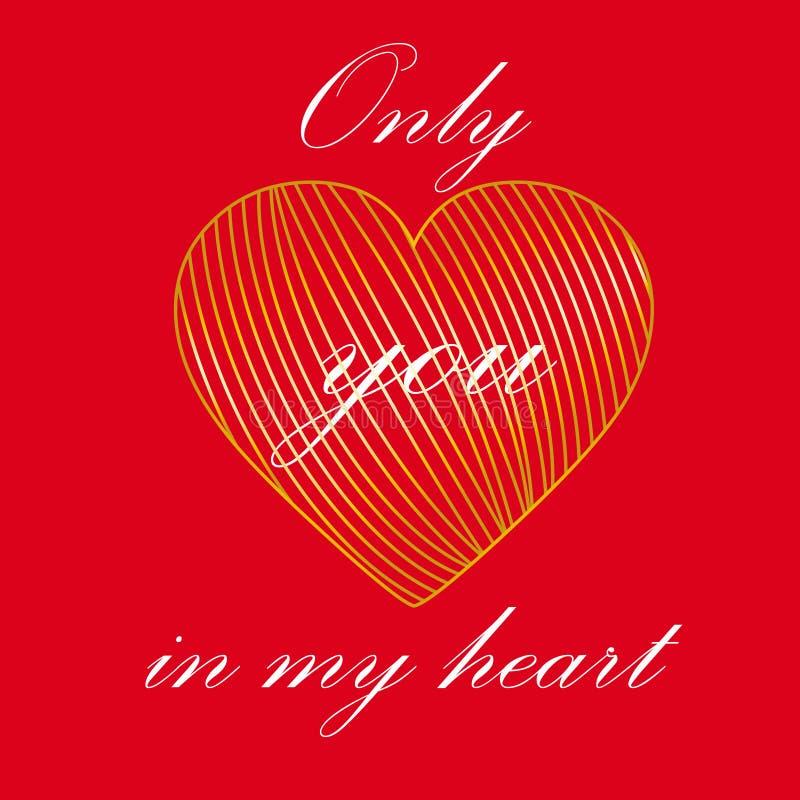 Amour empêtré au coeur illustration libre de droits