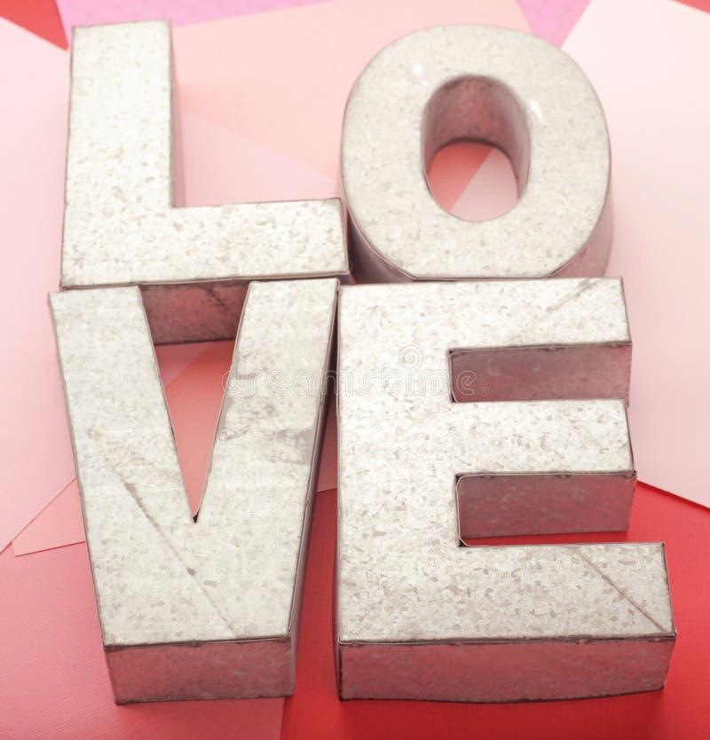 Amour en métal images libres de droits
