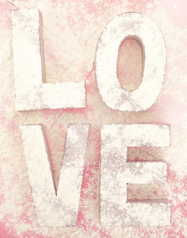 Amour en poudre image stock
