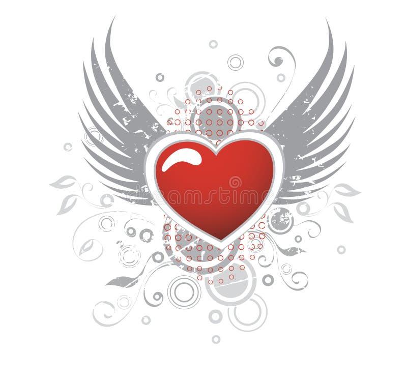 Amour en vol   illustration stock