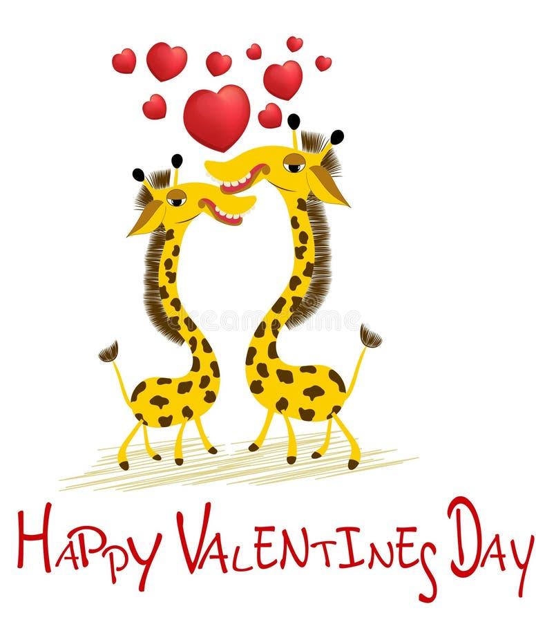 Amour Ensemble Jour de valentines heureux illustration de vecteur