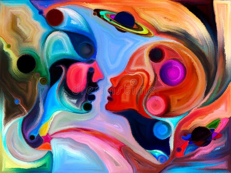 Amour entre les mondes illustration libre de droits