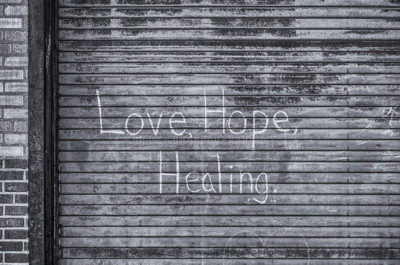Amour, espoir, guérissant image libre de droits