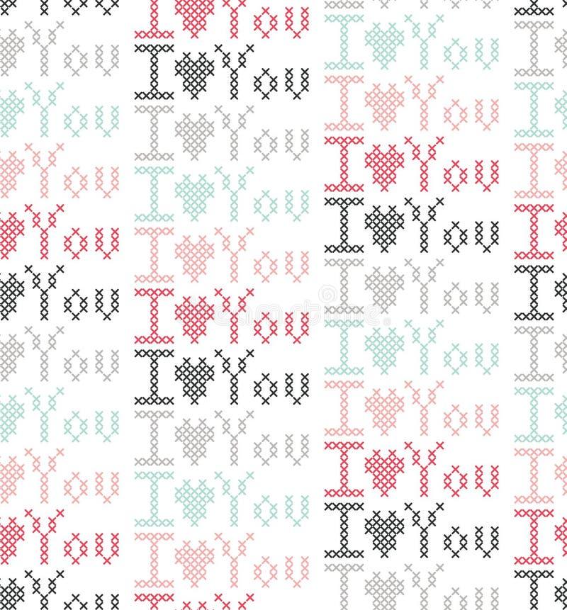 Amour et coeur du jour de StValentine illustration de vecteur