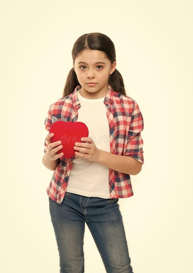 Amour et concept romantique de sentiments Attribut rouge de coeur de valentine Cadeau ou pr?sent de coeur J'? vous Salutation de photos libres de droits