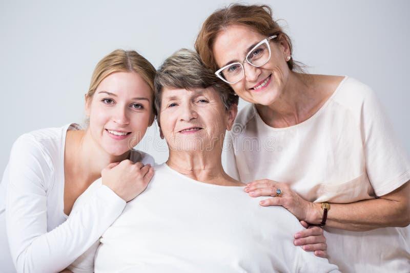 Amour et confiance entre la famille image stock