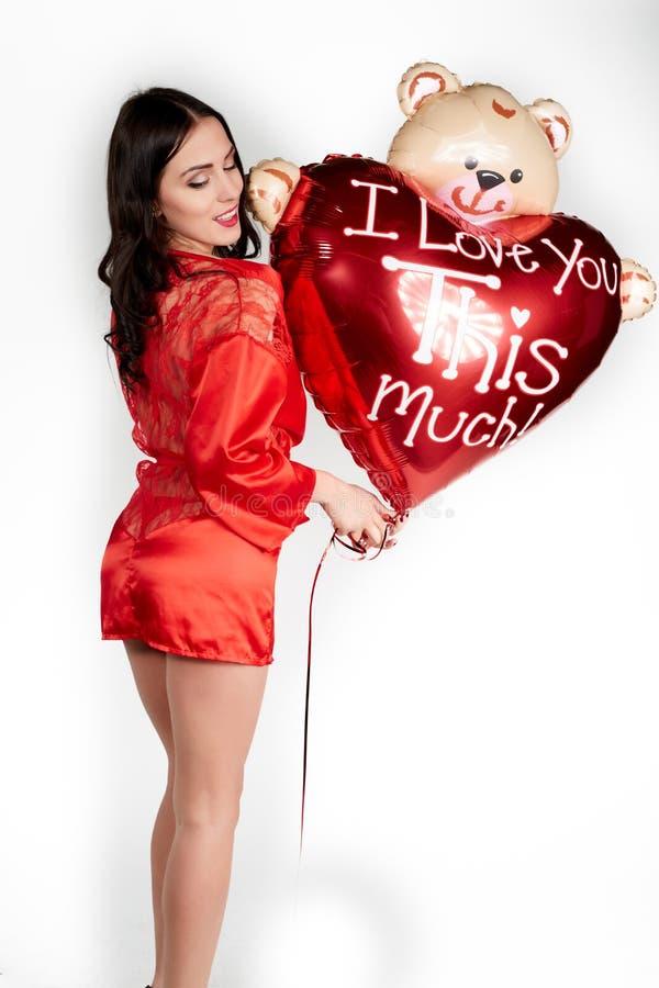 Amour et femme de jour de valentines photos libres de droits