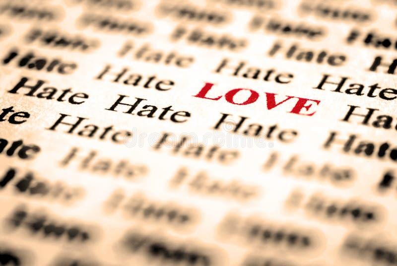 Amour et haine photographie stock