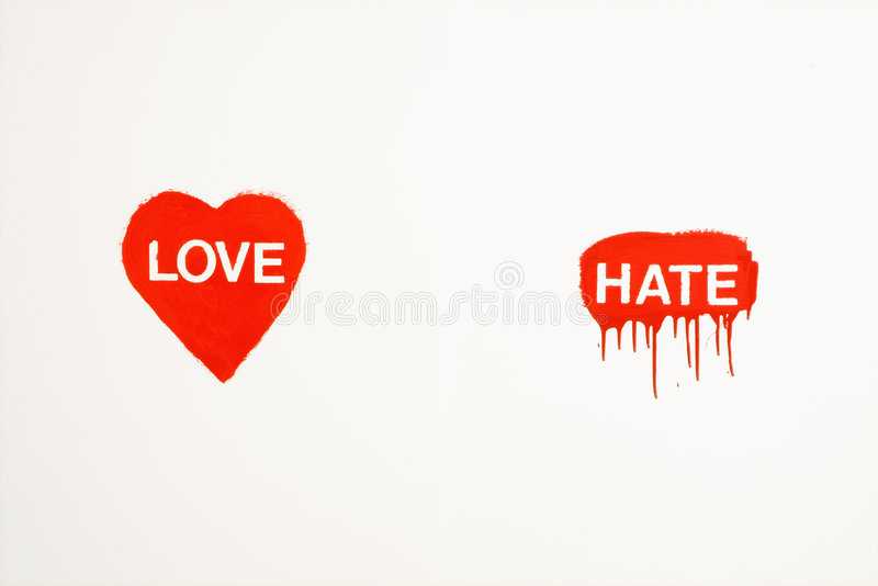 Amour et haine. images libres de droits