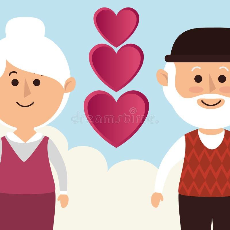 Amour et jour de valentines illustration de vecteur