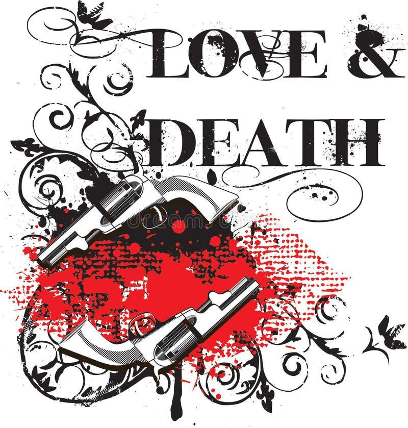 Amour et mort illustration libre de droits
