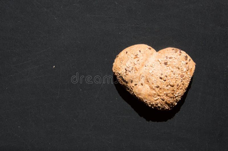 Amour et passion pour le pain complet images stock