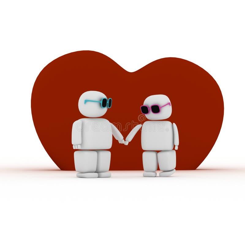 Amour et soin illustration libre de droits