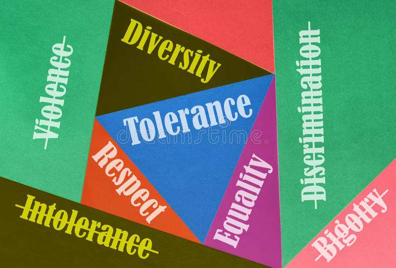 Amour et tolérance image stock