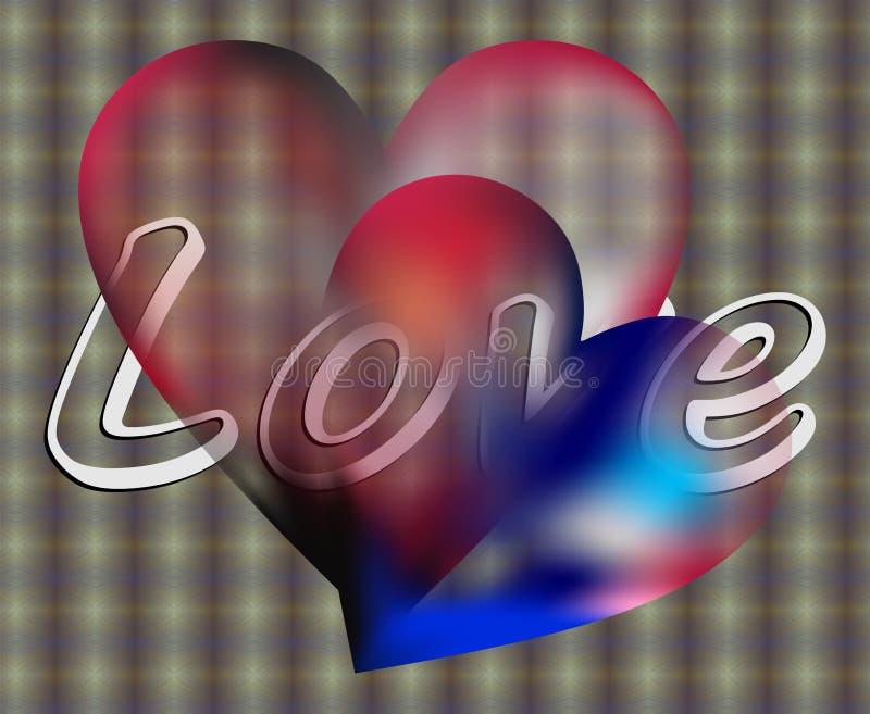 Amour et Valentine illustration libre de droits