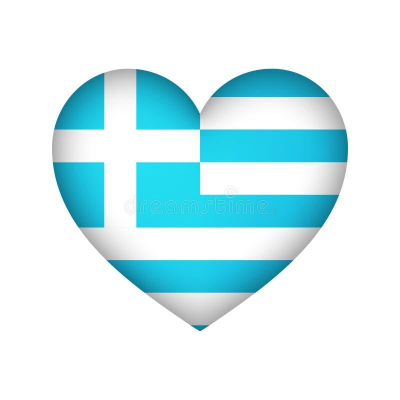 Amour grec d'illustration de vecteur de conception de coeur de couleur illustration libre de droits