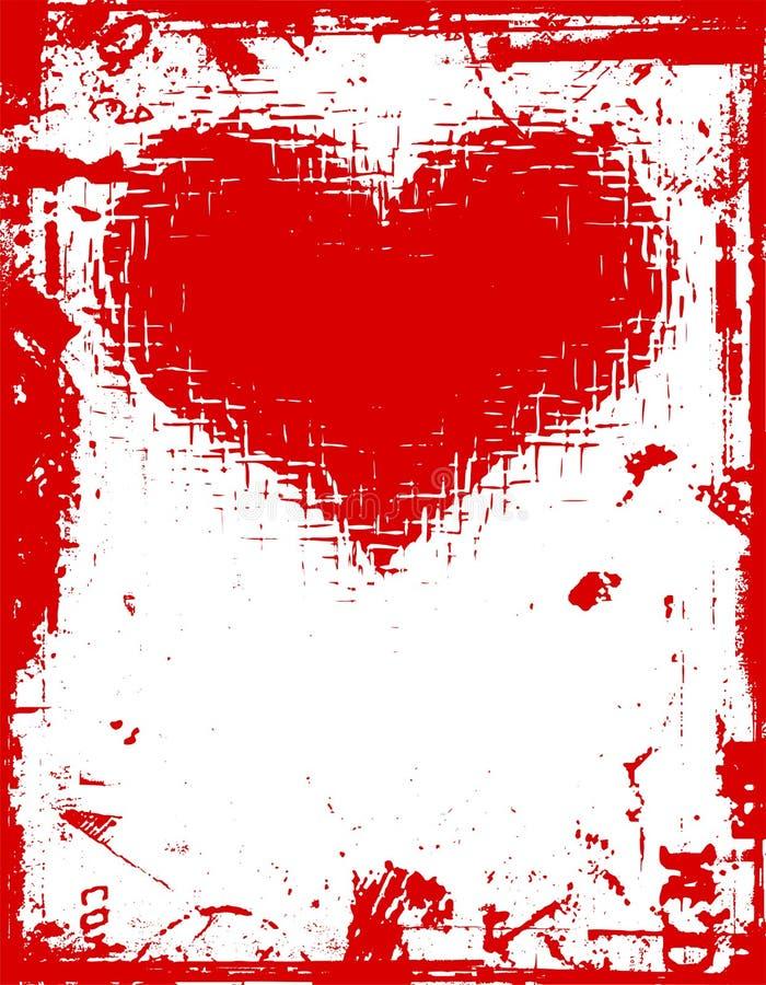 Amour grunge illustration de vecteur