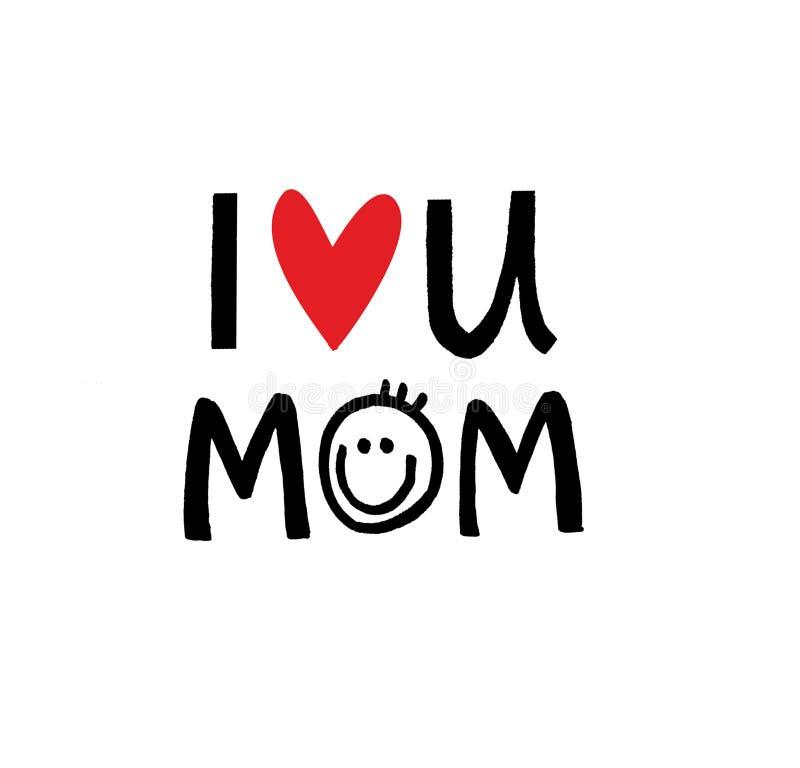 Amour II vous message pour le jour du ` s de mère illustration stock