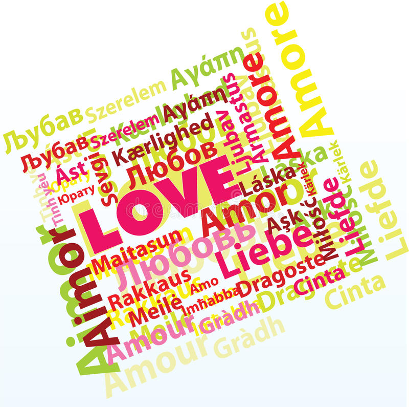 Amour international illustration de vecteur