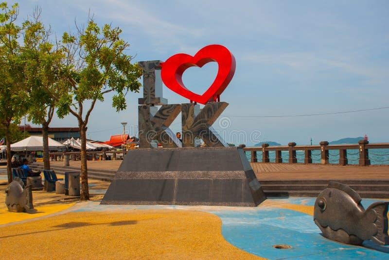 Amour KK du point de repère I décrit Kota Kinabalu Sabah Malaysia image libre de droits