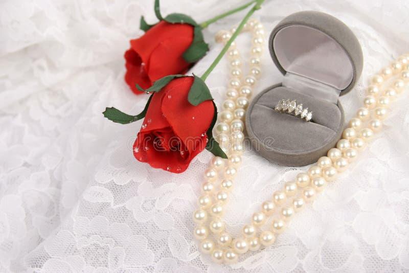Amour, lacet et luxe image stock