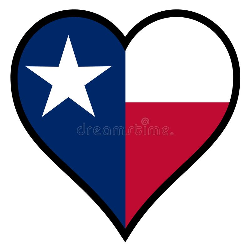 Amour le Texas illustration de vecteur