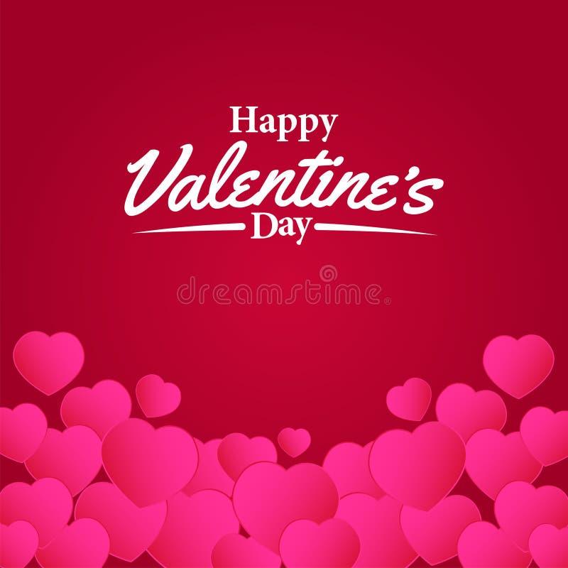 Amour love valentine decoration com forma de coração cor-de-rosa ilustração royalty free