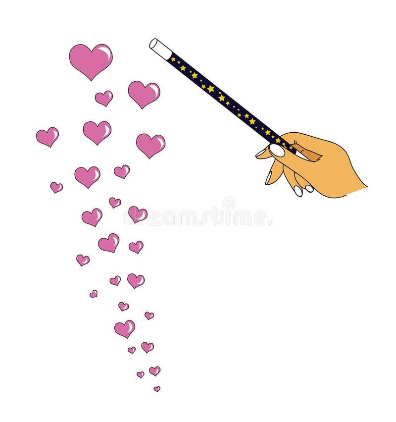 Amour magique illustration libre de droits