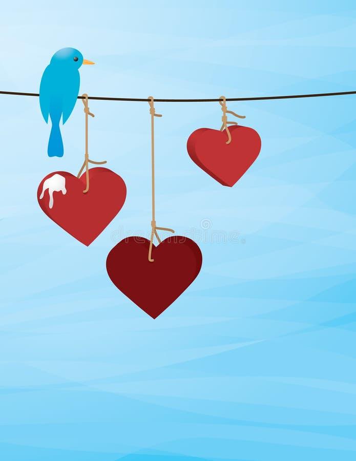 Amour misérable illustration de vecteur