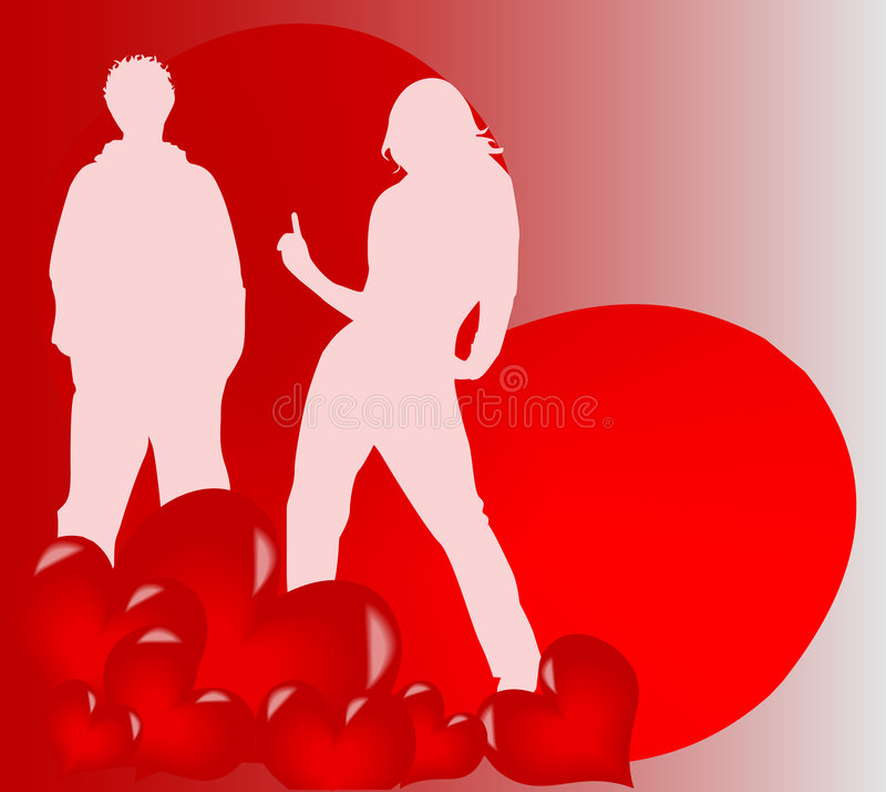 Amour neuf illustration stock